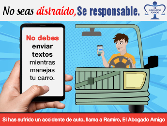 No seas distraido, se responsable